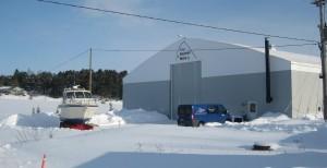 Lämmin talvisäilytyshalli